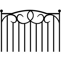 Wrought Iron Headboard Decal