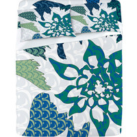 DENY Designs Home Accessories | Karen Harris Constance In Blue Blossom Sheet Set
