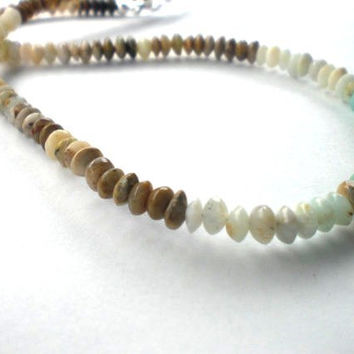 Variegated Natural Opal Beaded Necklace