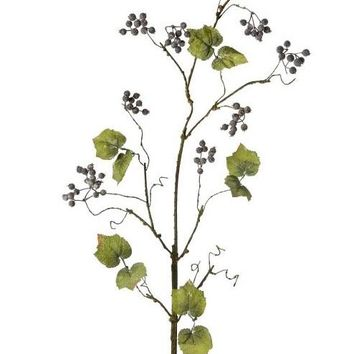 """Artificial Weathered Grape Vine with Berries - 44"""" Tall"""