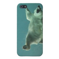 Swimming Polar Bear iPhone Case from Zazzle.com