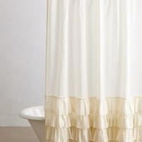 Aberdeen Shower Curtain by Anthropologie Cream One Size Shower Curtains