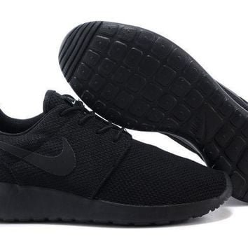 Nike Roshe Run All Black Running Shoes  - Ready Stock