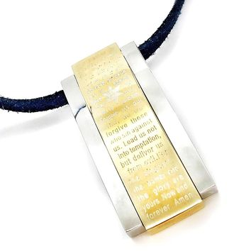 ON SALE - The Lord's Prayer Star of David Stainless Steel Pendant