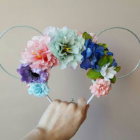 Under the Sea Floral Wire Minnie Ears
