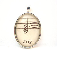 Joy Music Note Pendant by CarpeDiemHandmade