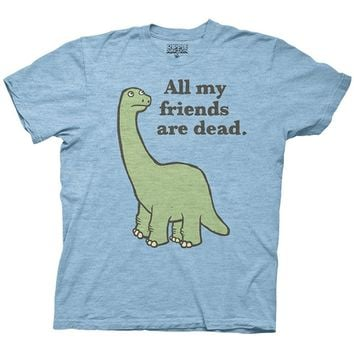 Gildan All My Friends Are Dead Dinosaur Adult T-shirt