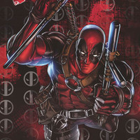 Deadpool Action Pose Marvel Comics Poster 22x34