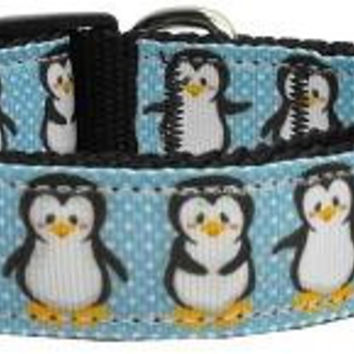 Penguins Nylon Ribbon Collars Large