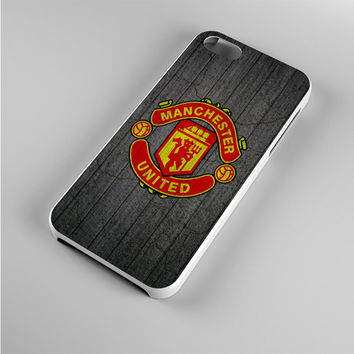 manchester united wood Iphone 5s Case