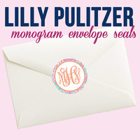Lilly Pulitzer Monogrammed Envelope Seals