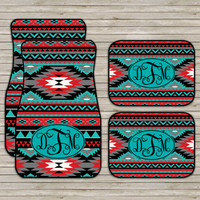 Aztec Tribal Car Mats, Aztec Carmats, Personalized Custom Car Mats, Cute Car Accessories For Women, Car Mats Monogram, Gift Ideas Sweet 16