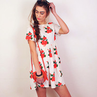 Everything Is Rosy Dress - 1 left