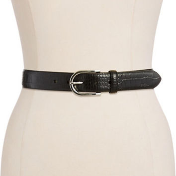 Lauren Ralph Lauren Embossed Leather Belt