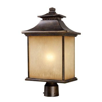42184/1 San Gabriel 1 Light Outdoor Post Lamp In Hazelnut Bronze - Free Shipping!
