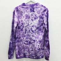 Pocketed Lavender Acid Wash Classic Print