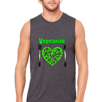 I am Vegetarian Muscle Tank
