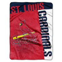 St. Louis Cardinals MLB Royal Plush Raschel Blanket (Strike Series) (60x80)