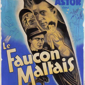 The Maltese Falcon (French) 11x17 Movie Poster (1941)