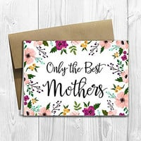 Mothers Get Promoted to Grandma - We're having a baby! - Pregnancy Announcement Card (5x7 size)