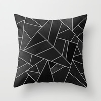 Black Stone Throw Pillow by Elisabeth Fredriksson