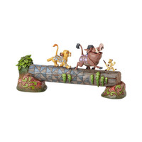 Disney Traditions Simba Timon and Pumbaa on Log Resin by Jim Shore New with Box