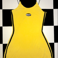 SWEET LORD O'MIGHTY! LOGO SKINNY DRESS IN YELLOW