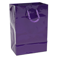 Glossy Candy Bags with Handles - Purple: 12-Piece Pack