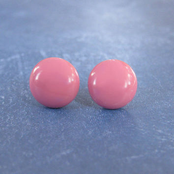 Dark Pink Earrings | Pink Stud Earrings | Hypoallergenic Studs | Easter Jewelry | Earring Jewelry - Carroll - 2369 -4