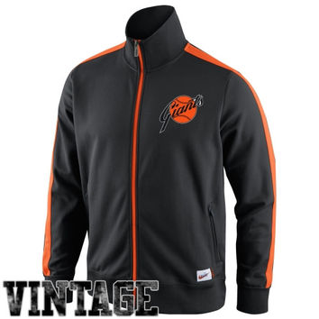 Nike San Francisco Giants Cooperstown Collection N98 Full Zip Track Jacket - Black