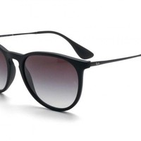 Ray-Ban Women's Erika Sunglasses Black Frame/Gray Gradient Lens