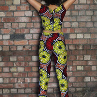 Crop Top - Trouser Combo - African Print - Aperitif Outfit