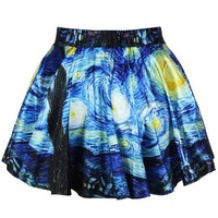 New Design Girls Fashion Printed Stretchy Mini Skirt (Ancient Egyptian Murals)