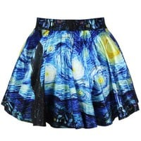New Design Girls Fashion Printed Stretchy Mini Skirt