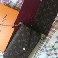 NOVO5 Louis Vuitton Pochette Felicie Monogram Wallet Authentic