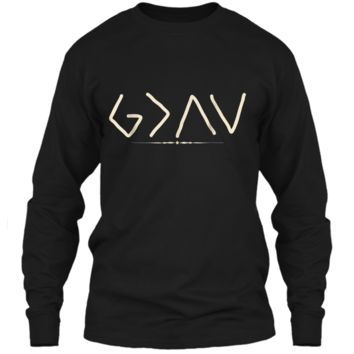 God is Greater Than the Highs and Lows  LS Ultra Cotton Tshirt