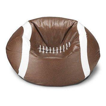 Kids, Children, Teens Football Bean Bag Chair Bedroom Playroom Game Room Seating Furniture