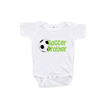 Custom Party Shop Baby Boy's Soccer Brother Onepiece
