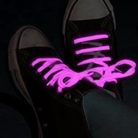 2 Pack Of Glow in the Dark Pair of Shoe Laces (Light Pink)