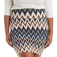 Plus Size Multi Printed Bodycon Mini Skirt by Charlotte Russe