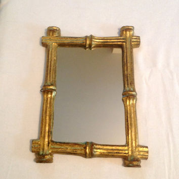 Vintage Gold Gilt Frame Mirror - Hand Made In Italy