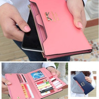 New fashion female wallet cute bow Card Purse long wallet Korean Style long purse