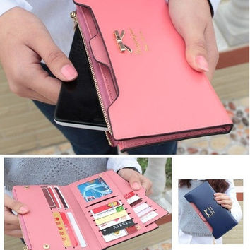 New fashion female wallet cute bow Card Purse long wallet Korean Style long purse = 1958084484