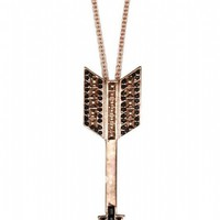 House of Harlow 1960 Jewelry Arrow Drop Necklace