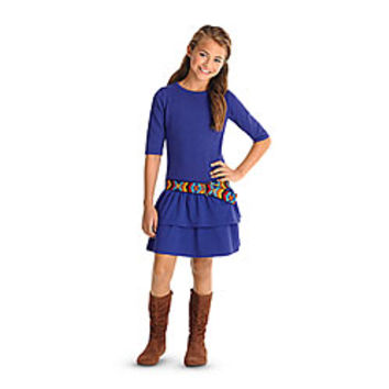 American Girl® Clothing: Saige's Dress & Belt for Girls