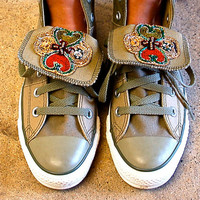 Gypsy Embellished Canvas Converse Sz 7