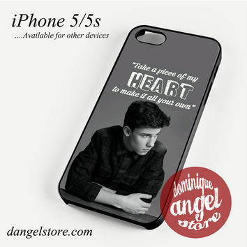 Shawn Mendes Quotes (2) Phone case for iPhone 4/4s/5/5c/5s/6/6 plus
