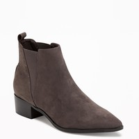 Sueded Pointy-Toe Ankle Boots for Women | Old Navy