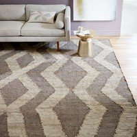 Woven Recycled Leather Rug