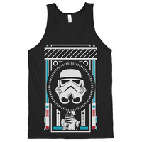 Star Wars Tribute Tank. Geeky Black Tank Top.
